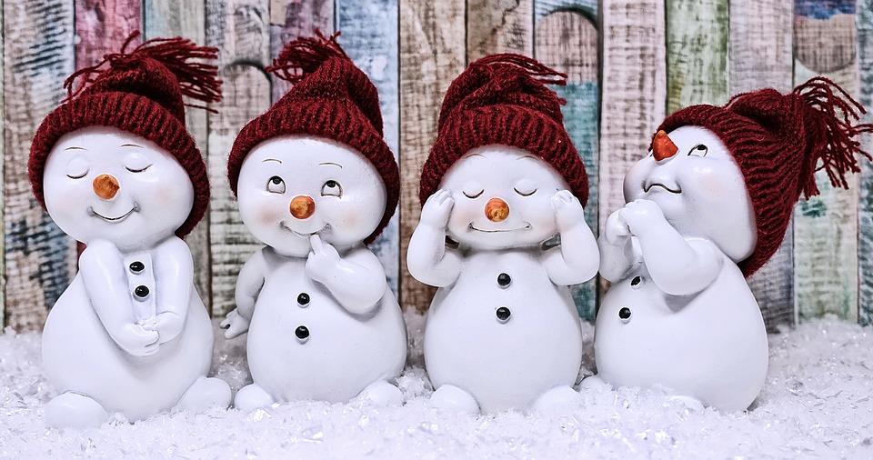 Snowman, Figure, Cute, Winter, Wintry, Snow, Decoration