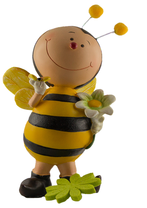 Bee, Figure, Painted, Sound, Yellow, Decoration