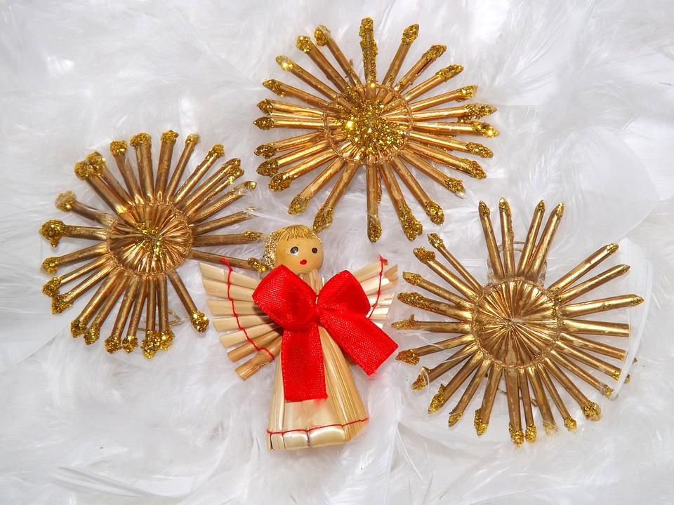 Christmas, Decorations, Star, Angel