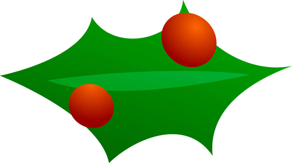 Christmas, Decorations, Green, Leaves, Tree, Red