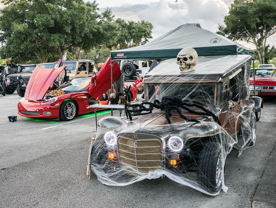 Classic Car, Halloween, Decorations, Automobile, Show