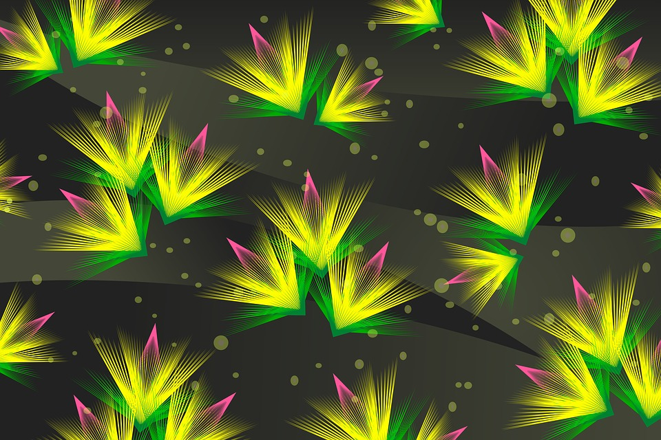 Background, Floral, Abstract, Lines, Design, Decorative