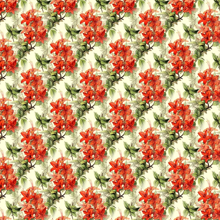 Floral Background, Scrapbooking, Summer, Decorative