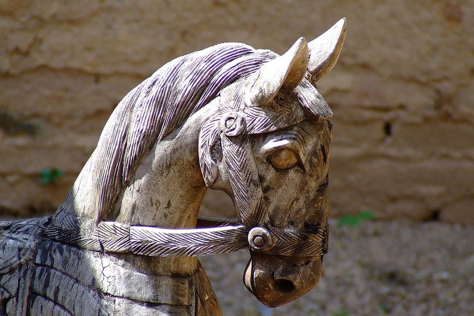 Horse, Ornament, Thailand, Decorative, Carved