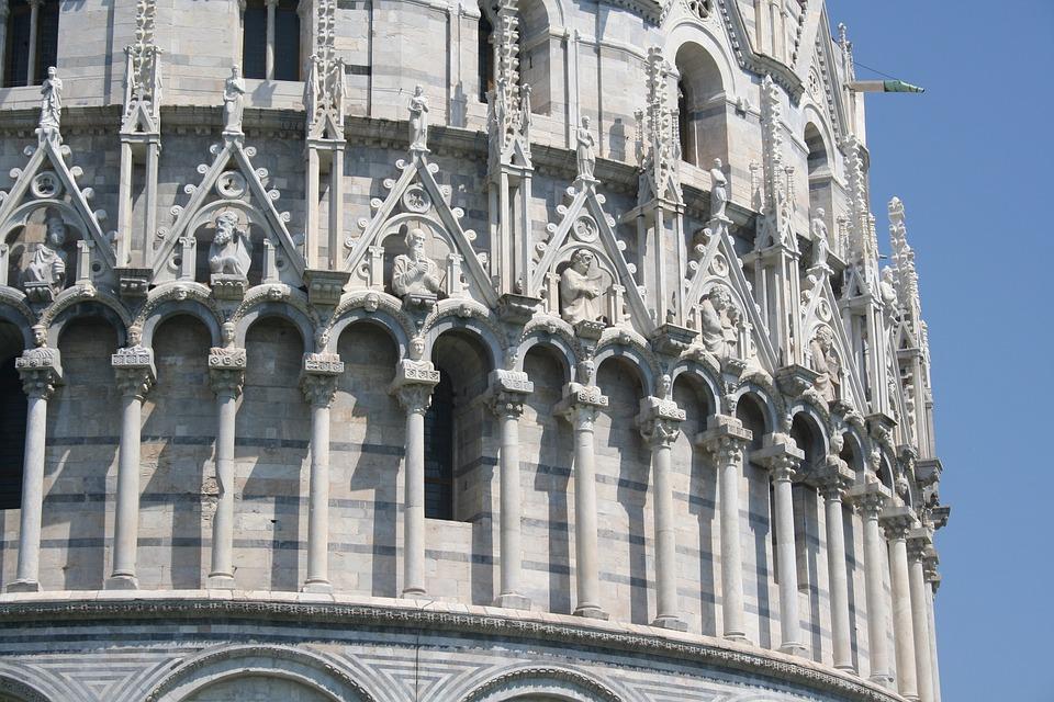 Architecture, Italian, Italy, Decorative, Column