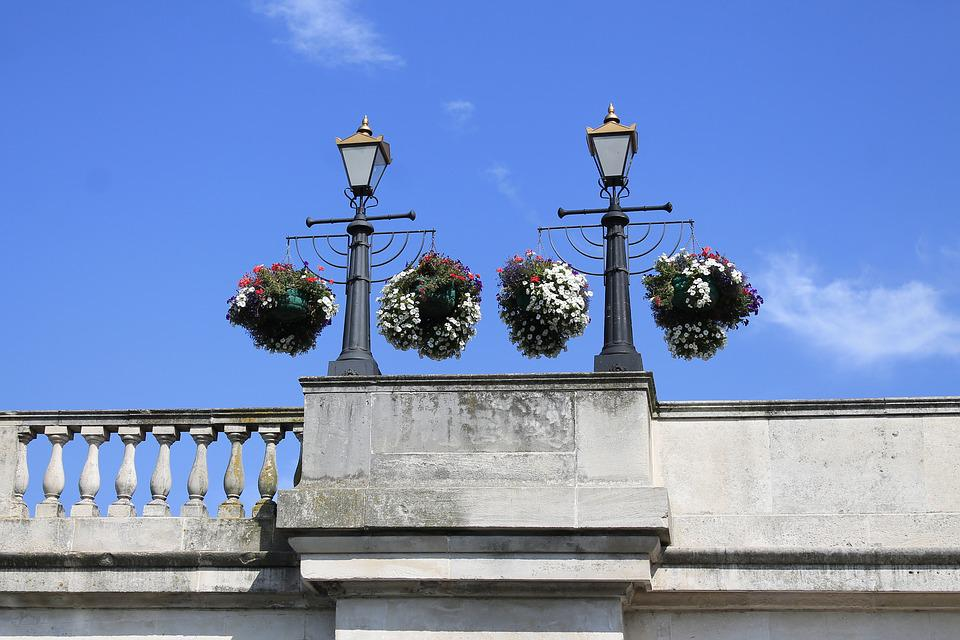 Hanging Baskets, Flowers, Lampposts, Decorative, Summer