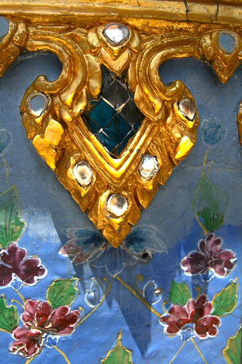 Fold, Ornate, Pattern, Flowers, Colorful, Decorative