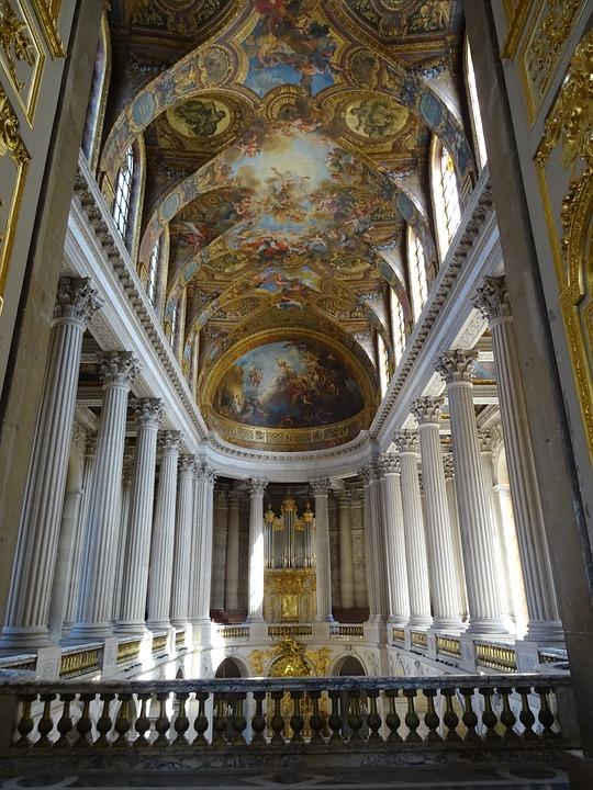 Versailles, Paris, France, Palace, Decorative, Ceiling