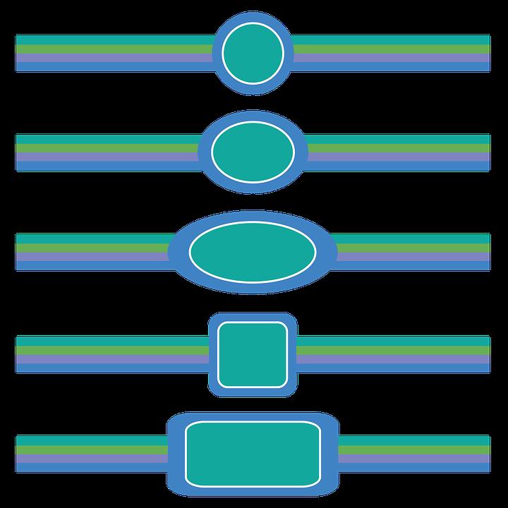 Blue Border, Frame, Decorative, Pattern