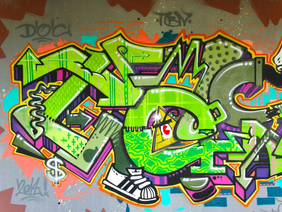 Graffiti, Color, Colorful, Decorative, Spray, Art