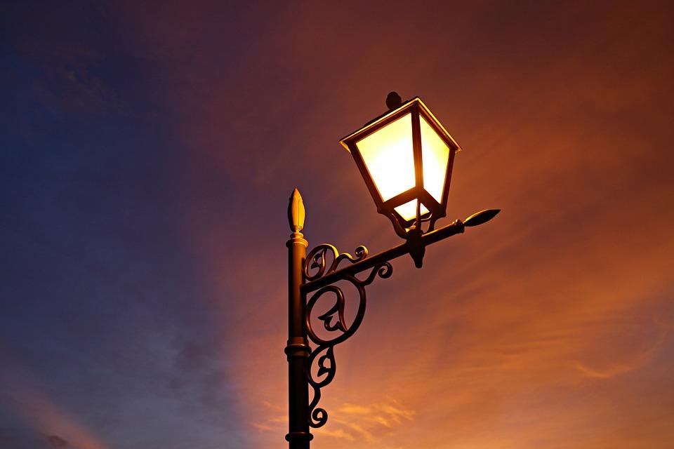 Lamp Light, Illumination, Sunset, Dusk, Decorative