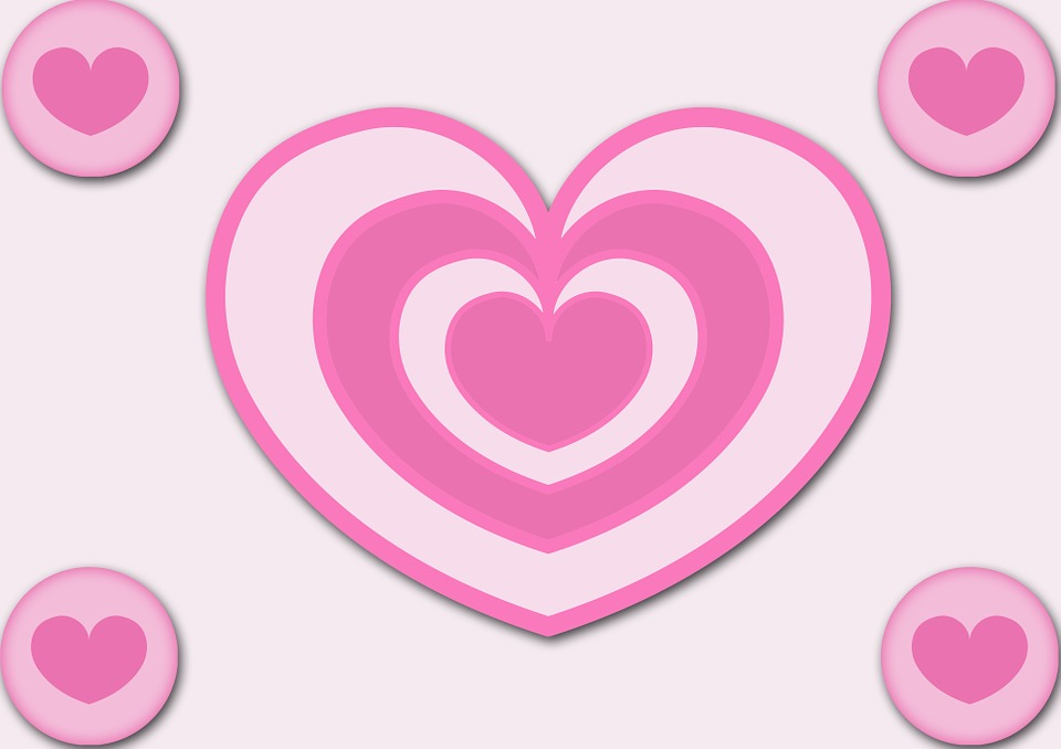 Heart, Pink, Love, Red, Decorative, Symbolic