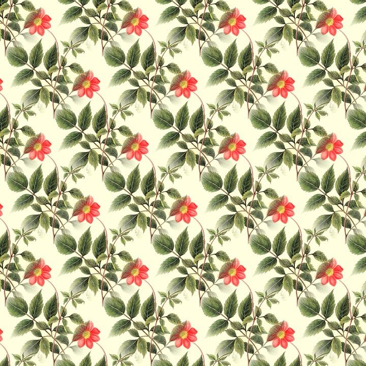 Floral Background, Scrapbooking, Vintage, Decorative