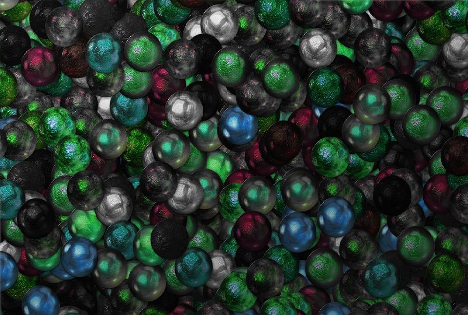 Green, Balls, Wallpaper, Decorative