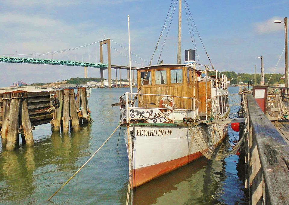 Wooden Ship, Antique, Decorative, Restaurant Ship, Port