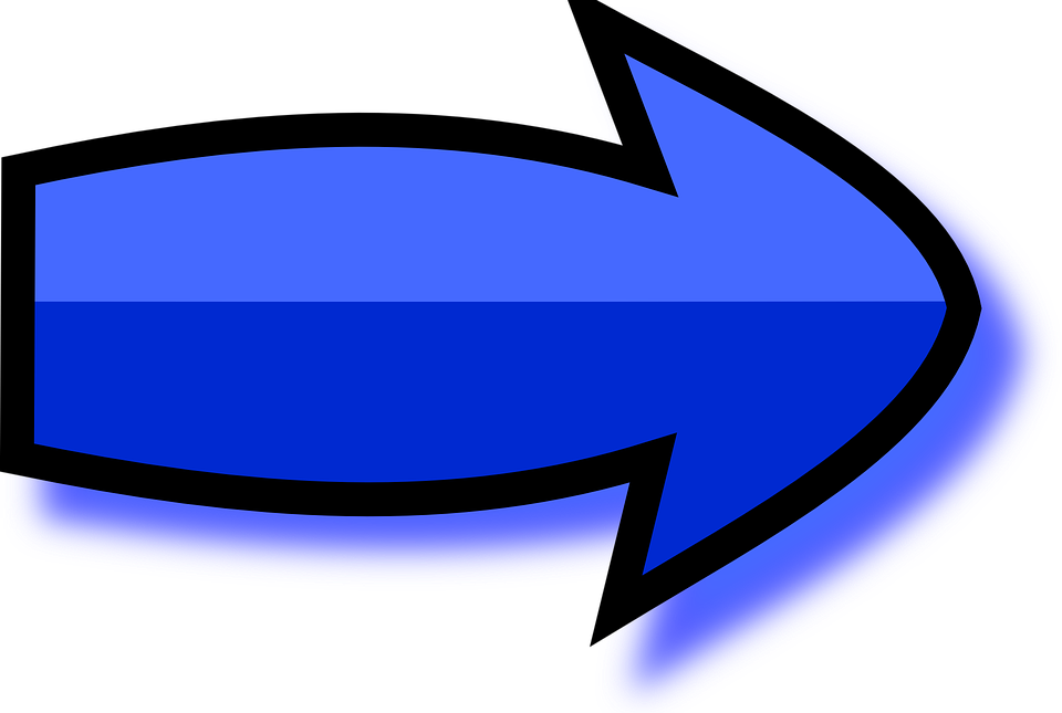 Arrow, Directions, Right, Pointer, Pointing, Blue, Deep