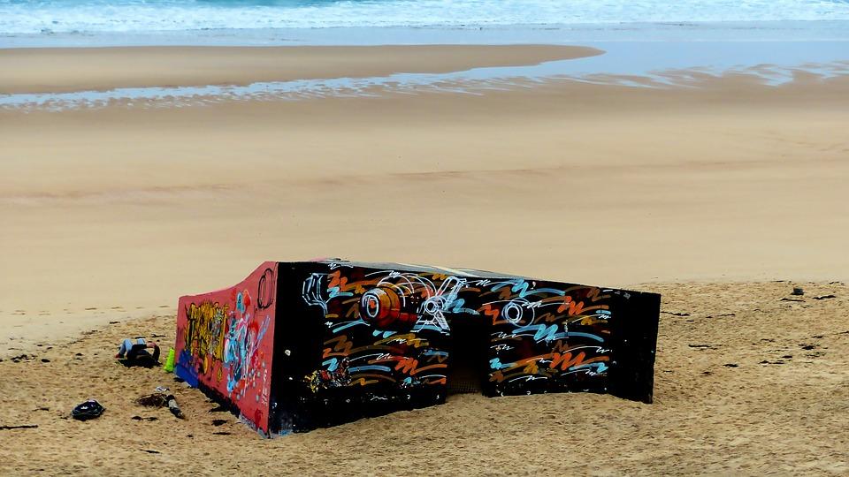 Bunker, Architecture, Ocean, Beach, Defense, War