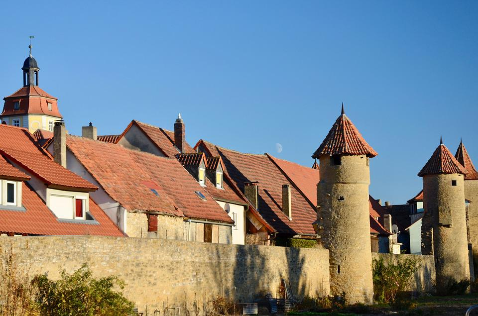 City Wall, Defense Towers, Tower, Architecture