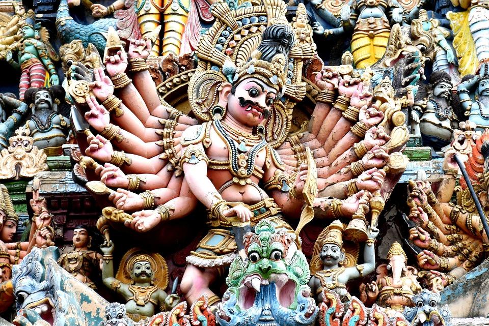 Madurai, Temple, Tradition, Meenakshi, Colorful, Deity