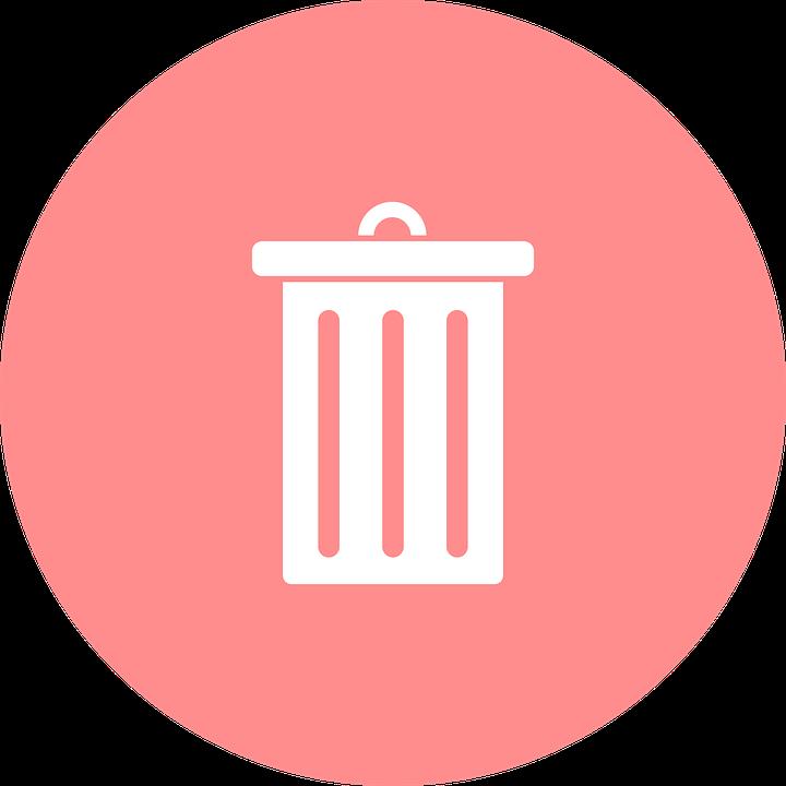 Delete, Dustbin, Garbage Can, Garbage Disposal
