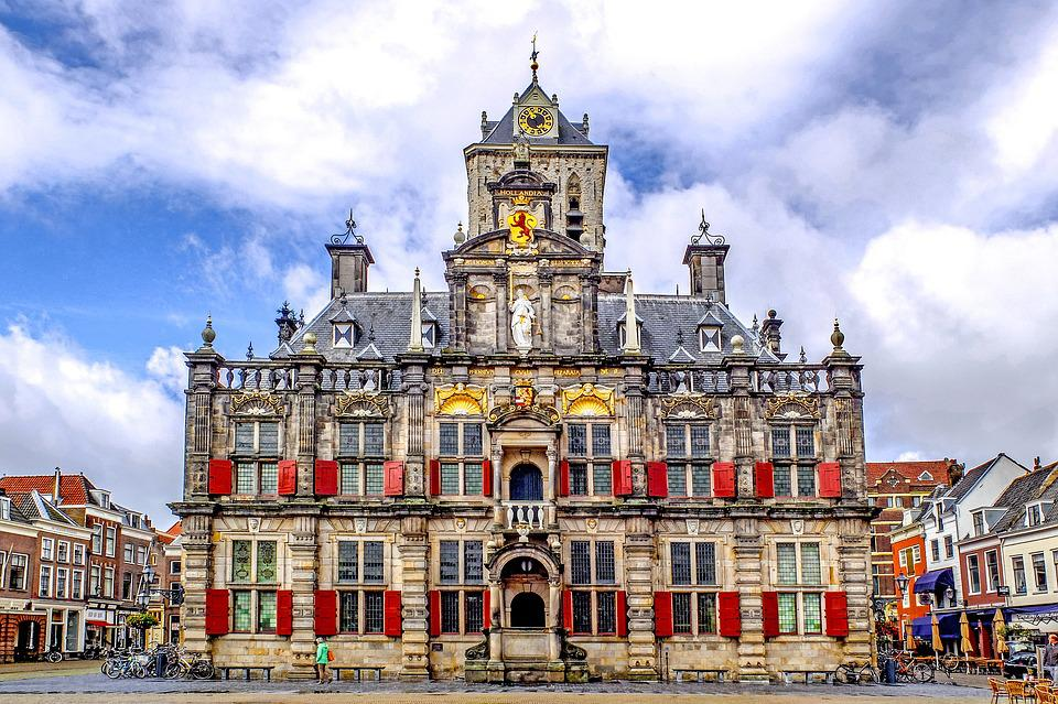 Monument, Town Hall, Architecture, Ancient, Delft