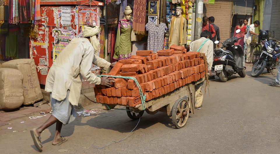Street Life, Street, Delhi, City, India, Transporting