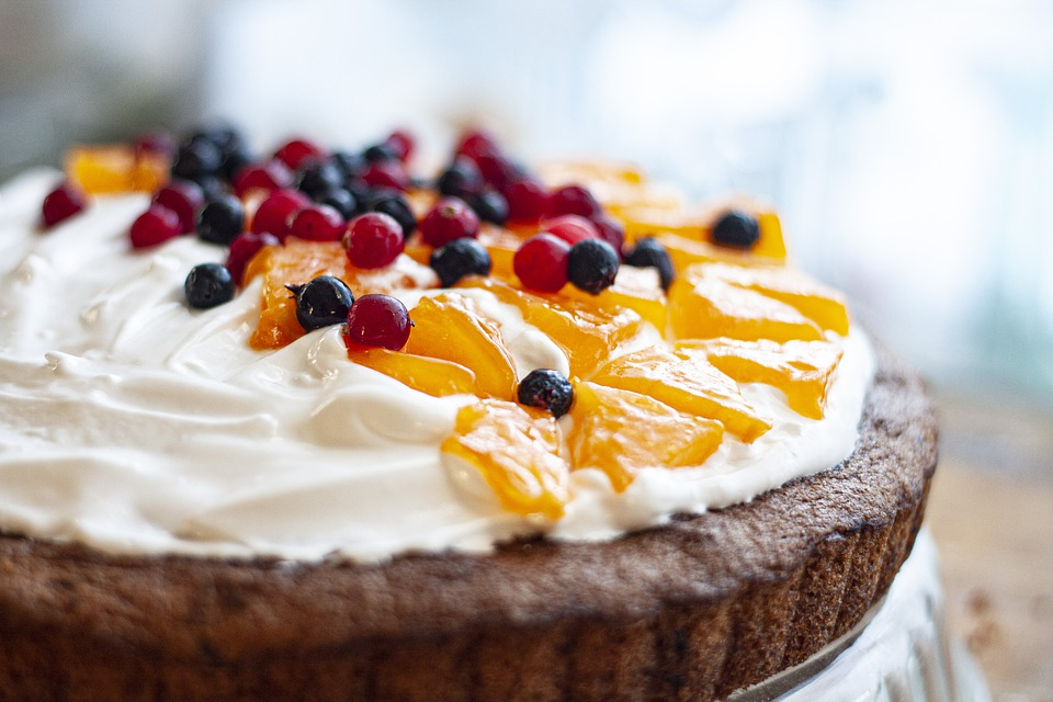 Cake, Berries, Cream, Dessert, Sweet, Delicious, Food