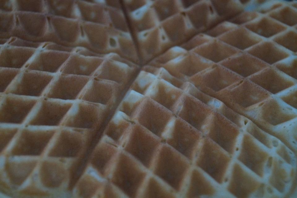 Waffles, Close, Delicious, Sweet Dish, Dessert