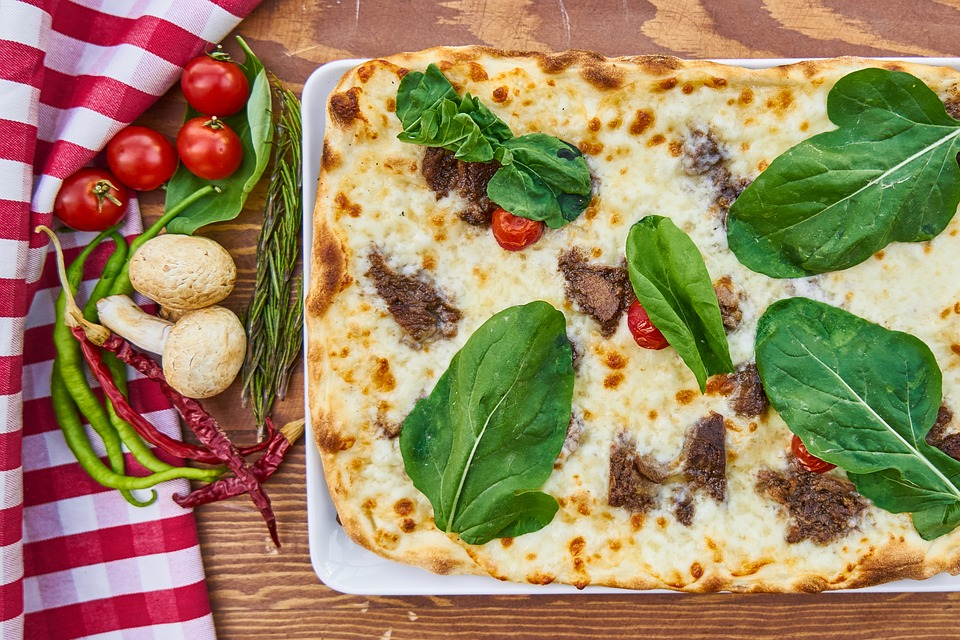 Pizza, Dough, Food, Delicious, Pepper, Bakery