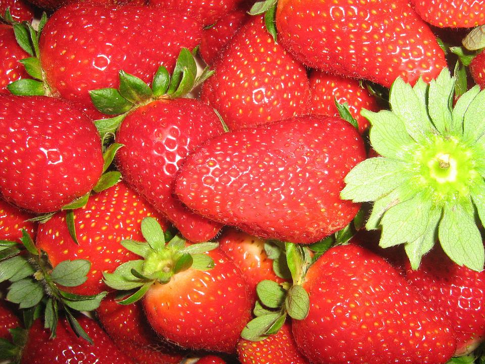 Strawberries, Red, Delicious, Sweet, Fruits, Summer
