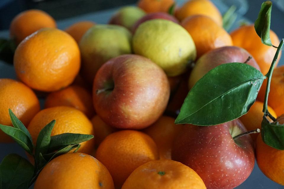 Fruit, Apple, Leaf, Mandarin, Delicious, Fruits