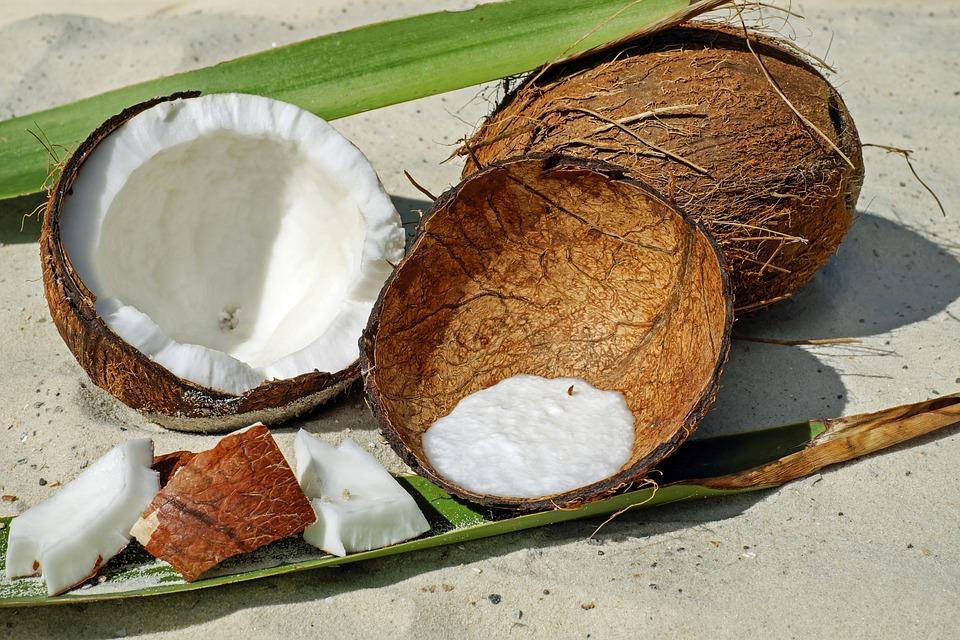 Coconut, Nut, Shell, Brown, Pulp, Delicious, Healthy