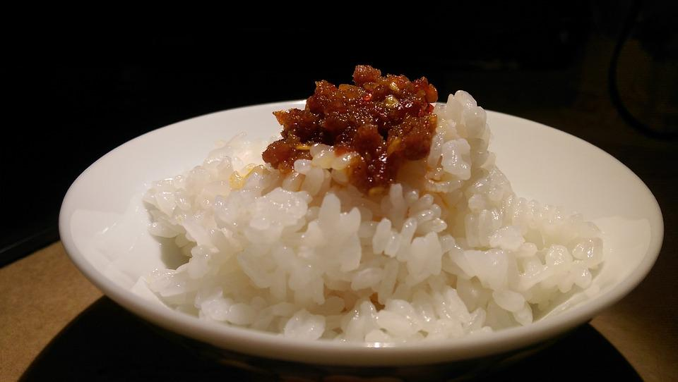 Plain Cooked Rice, Xo Sauce, Delicious, Meal, Lunch