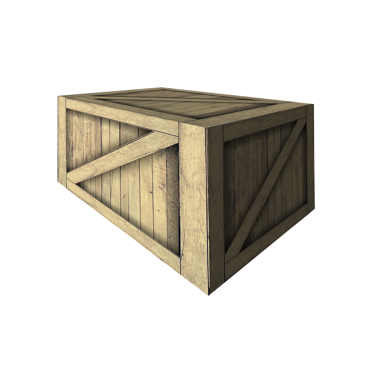 Crate, Wooden Crate, Wooden Box, Delivery, 3d, Render