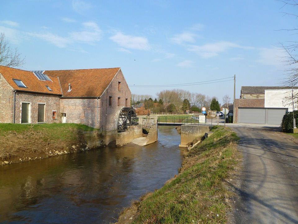 Demer, River, Spring, Zichem, Belgium