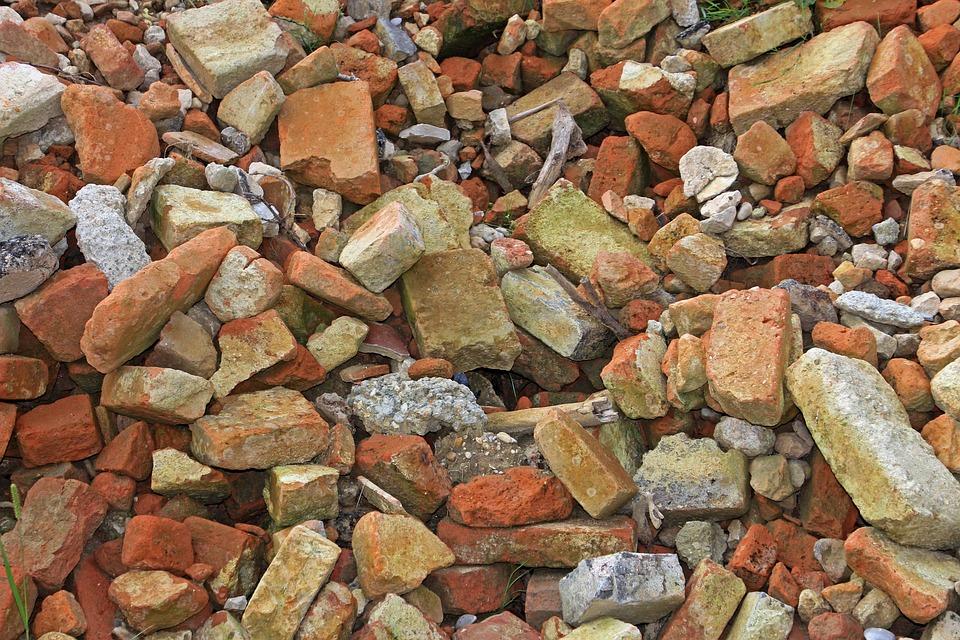 Debris, Building Rubble, Stones, Crash, Demolition