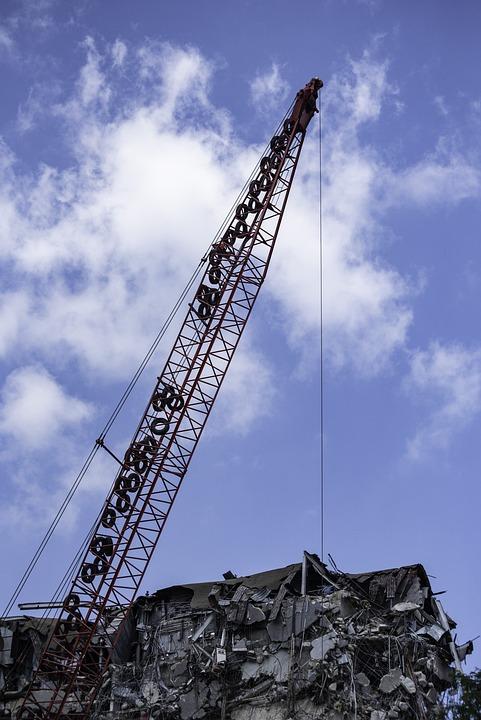Construction, Demolition, Building, Crane, Machines