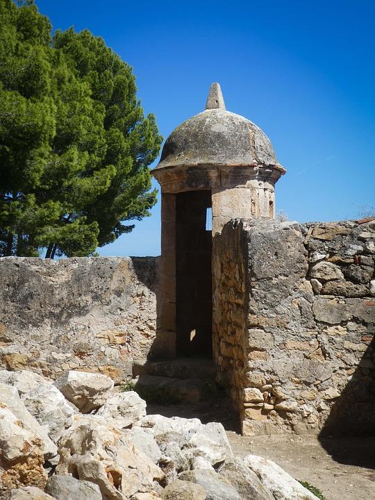 Castle, Ruins, Denia, Spain, Building, Fortress