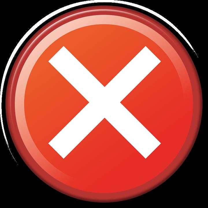 Cancel, Deny, Website, Icon, Red, Denied, Web, Design
