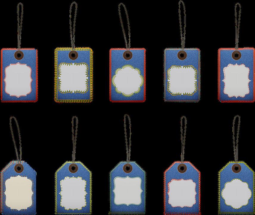 Denim Stitched Labels, Tags, Frames, Sale, Banner