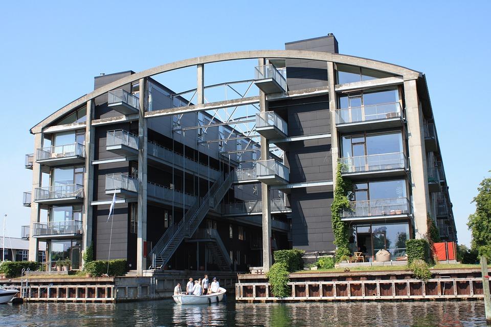 Residence, Channel, Boot, Blue Sky, Copenhagen, Denmark
