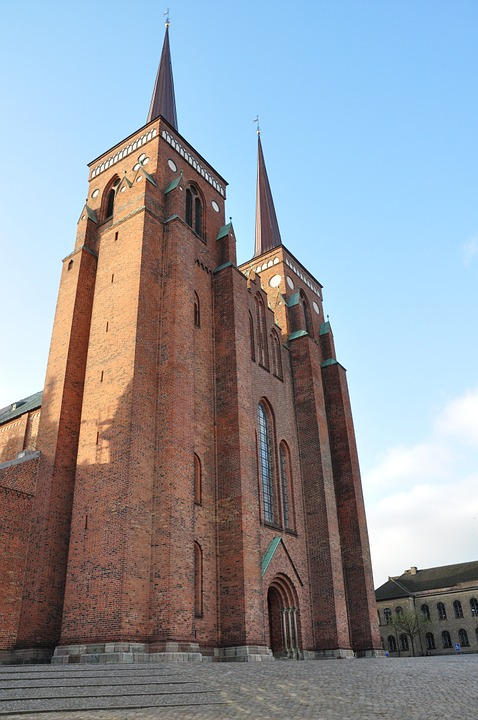Cathedral, Denmark, Roskilde, Church, Building