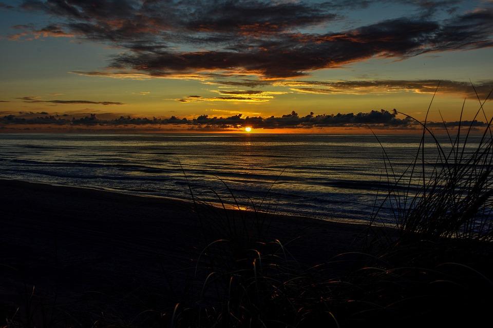 Sun, North Sea, Beach, Holiday, Sunset, Coast, Denmark