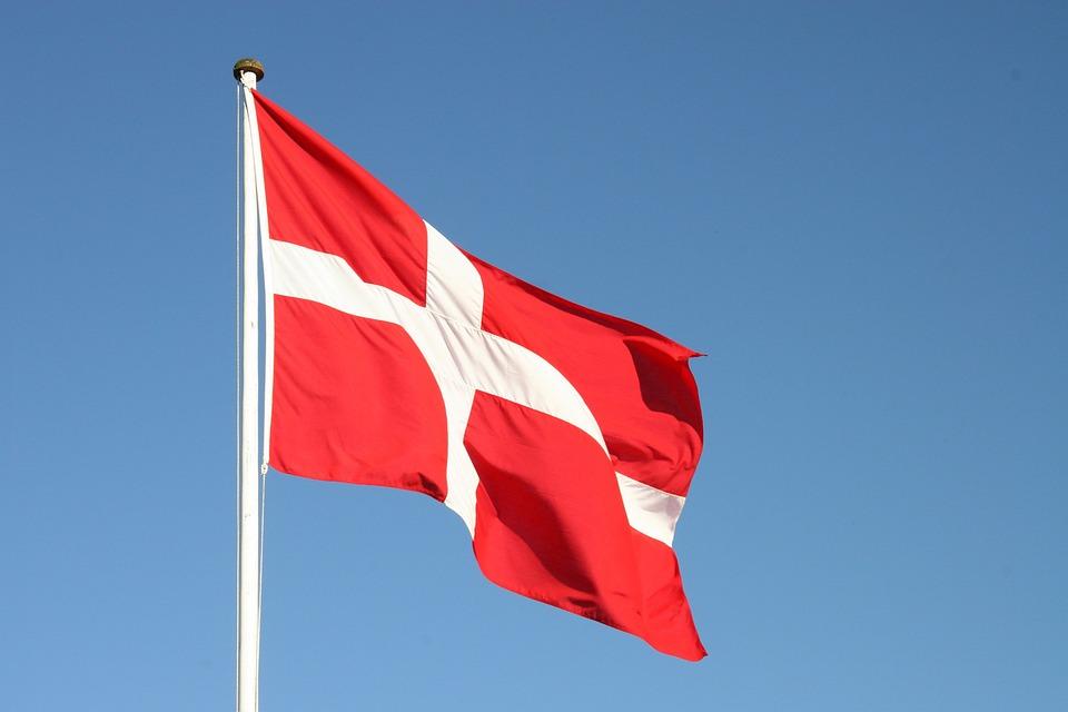 Flag, Dannebrog, Denmark, Danish, Sky
