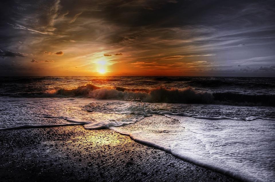 Denmark, Sun, Summer, Nature, Landscape, Sunset, Sea