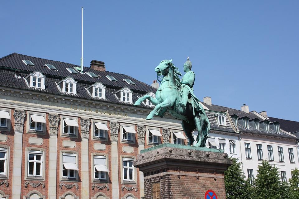 Statue, Rider On Horse, Denmark, Copenhagen