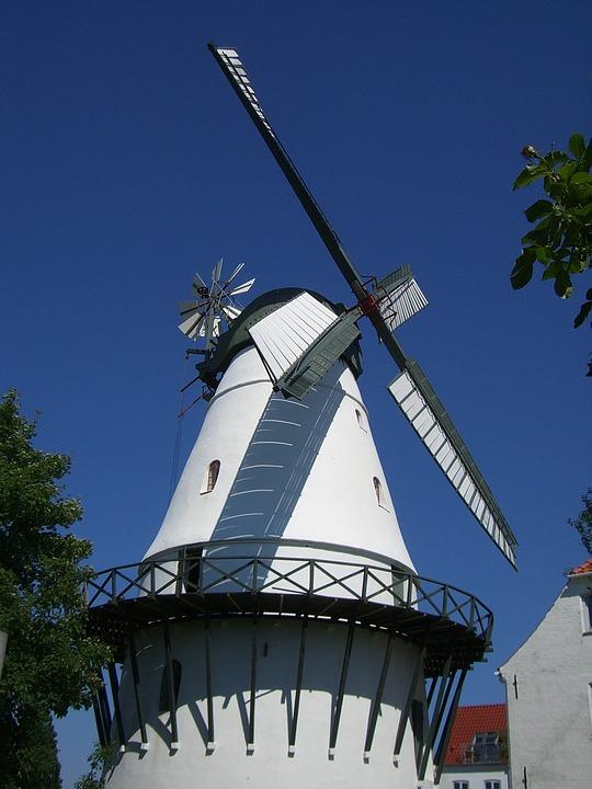 Windmill, Sonderburg, Mill, Denmark