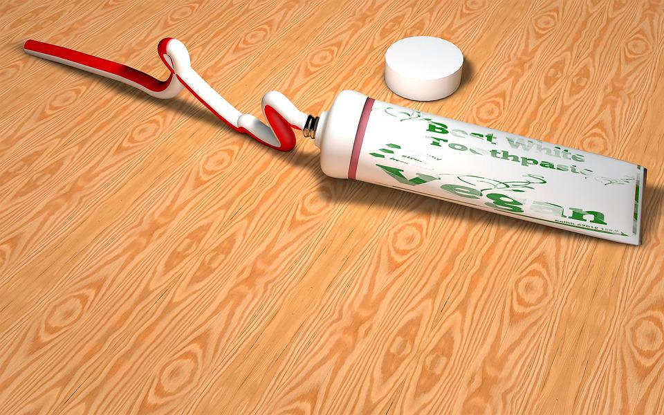 Toothpaste, Tube, Dental Care, Hygiene, Red