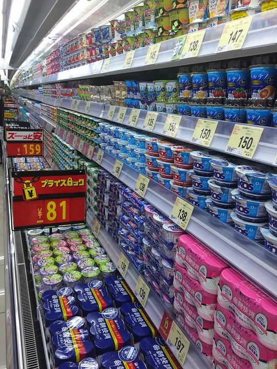 Supermarket, Yogurt, Department, Refrigeration
