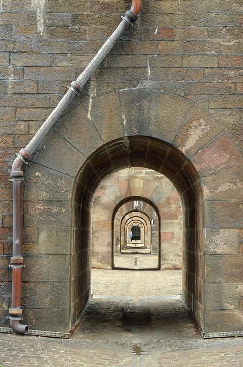 Port, Repetition, Depth, Verte, Perspective, Stone